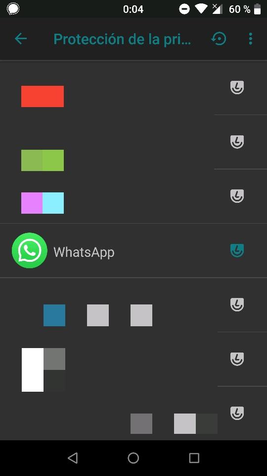 WhatsApp con Protección de la privacidad activada
