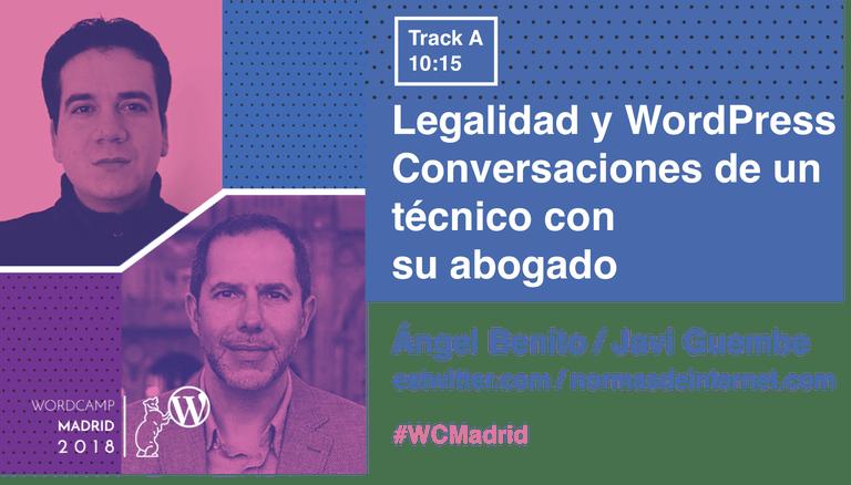 Javi Guembe y Ángel Benito y su charla en la WordCamp