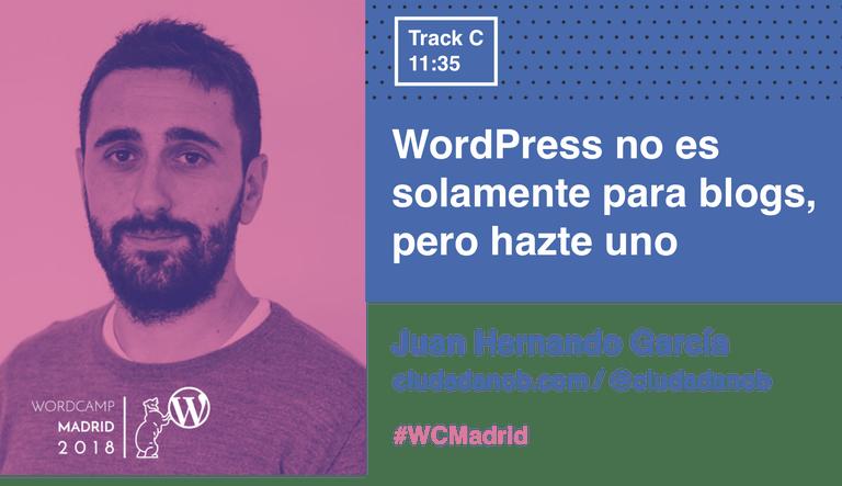Juan Hernando y su charla en la WordCamp