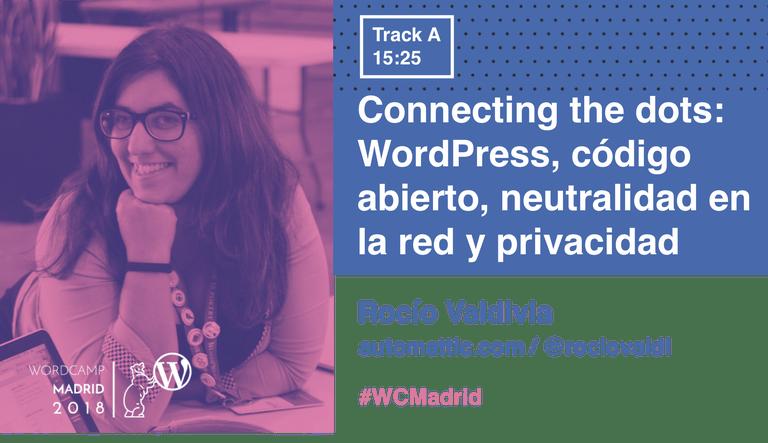 Rocío Valdivia y su charla en la WordCamp
